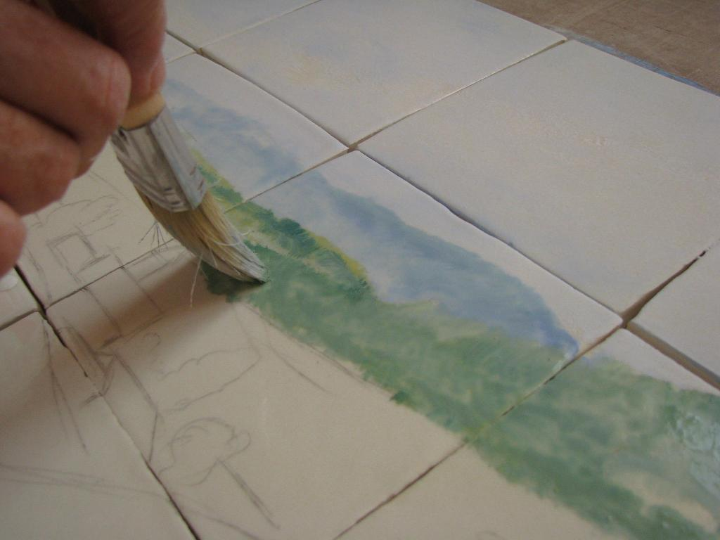 D cor fresque c ramiques du beaujolais fa ences et for Fresque murale carrelage