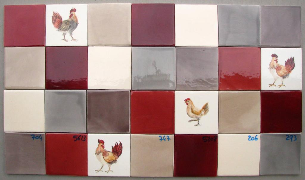 Fa ence et carrelage mural de cuisine carreaux for Carrelage mural rouge