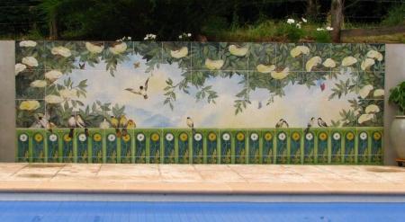 Décor fresque - Céramiques du Beaujolais, faïences et terre cuite - Décor carrelage et carreaux ...