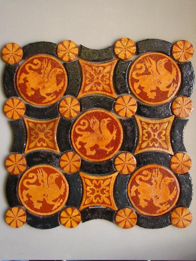 D cor c ramique sur carrelage carreaux d cor carrelage for Carrelage ceramique ancien