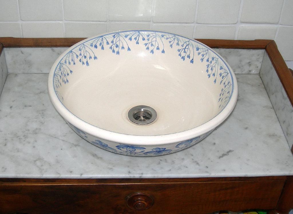 Vasque De Salle De Bain Décorée Style 1900 Retro DSCN6490